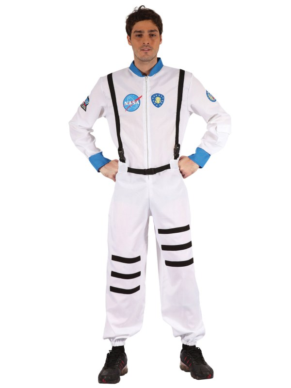 Adult White Spaceman Astronaut Mens Fancy Dress Costume