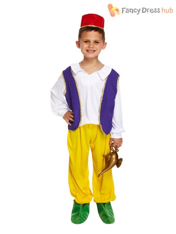 Boys Arabian Genie Aladdin Arab Costume Childrens Book