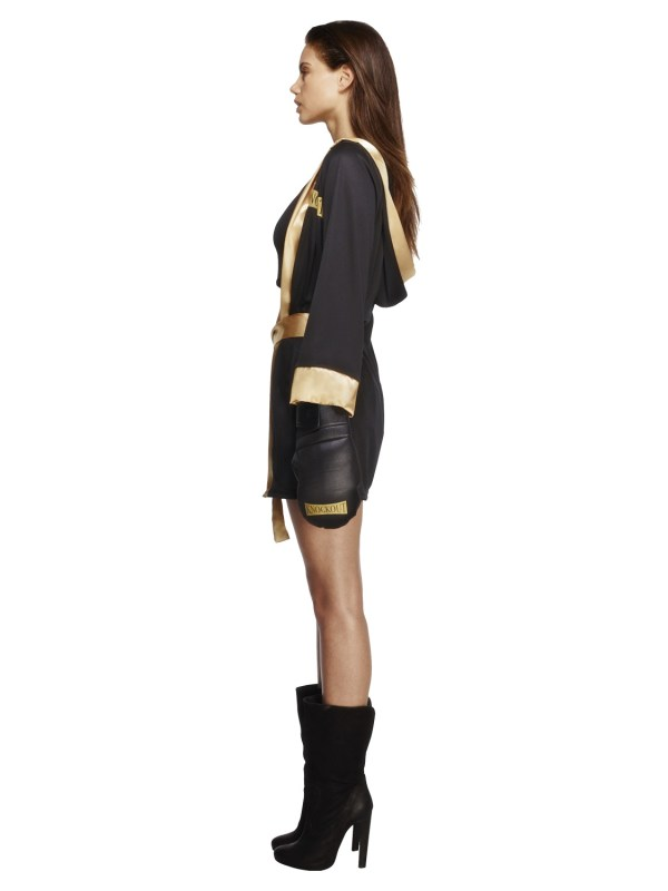Ladies Fever Knockout Boxing Fancy Dress Costume Womens