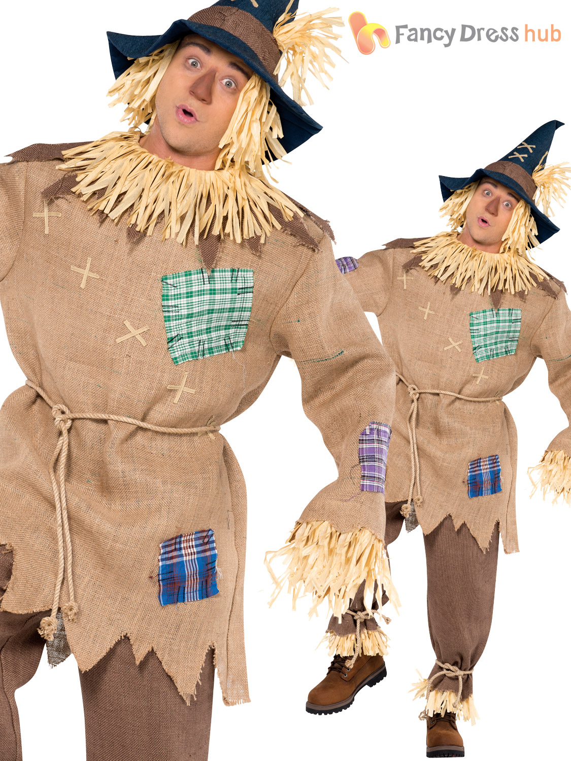Mens La S Scarecrow Costume Book Week Day Character
