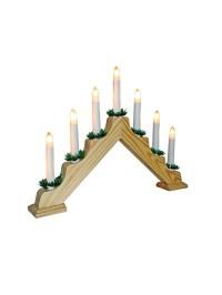 Wooden Candle Bridge Pine Christmas Decoration Arch Window ...