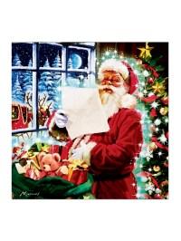 Light Up Christmas Canvas Scene LED Fibre Optic Picture ...