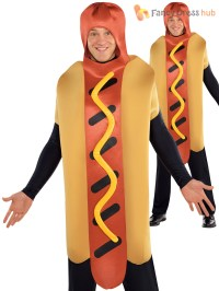 Adults American Food Costume Hot Dog Sauce Fancy Dress ...