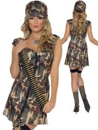 Ladies Fever Army Girl Costume | All Ladies | Fancy Dress Hub