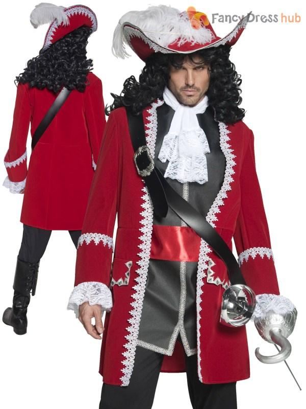 Adults Deluxe Authentic Pirate Costume Ladies Mens Captain