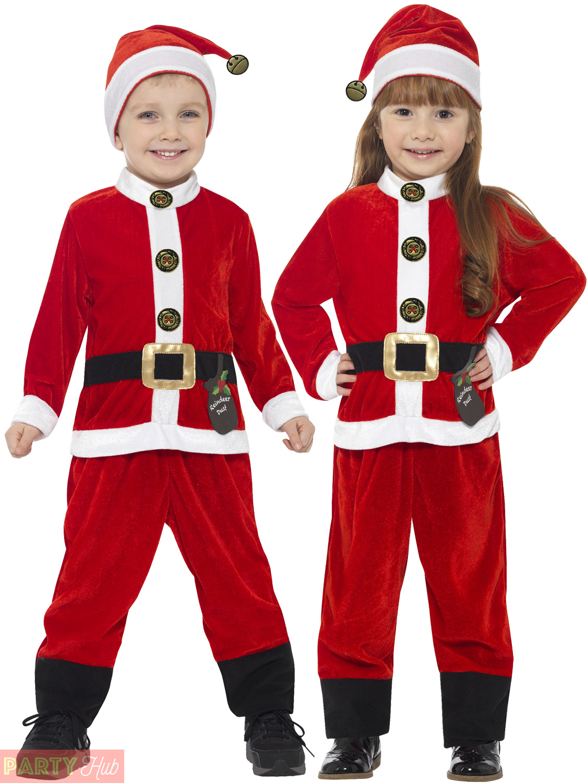 childrens santa costume kids