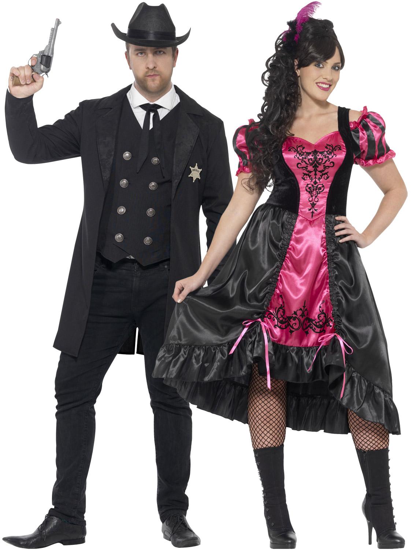 Mens La S Wild West Costume Sheriff Saloon Girl Plus