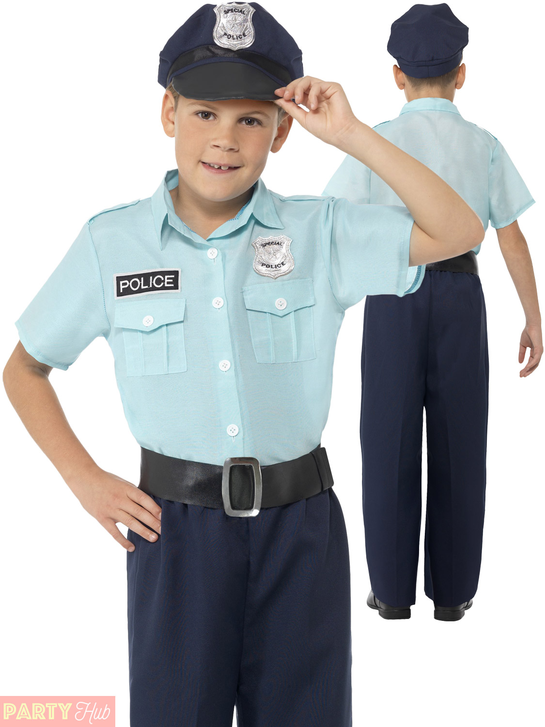Childrens Police Officer Policeman Costume Boys Cop Pc