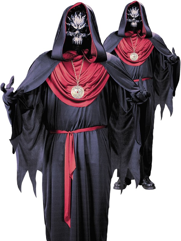 Adult Emperor Of Evil Costume Mens Grim Reaper Halloween