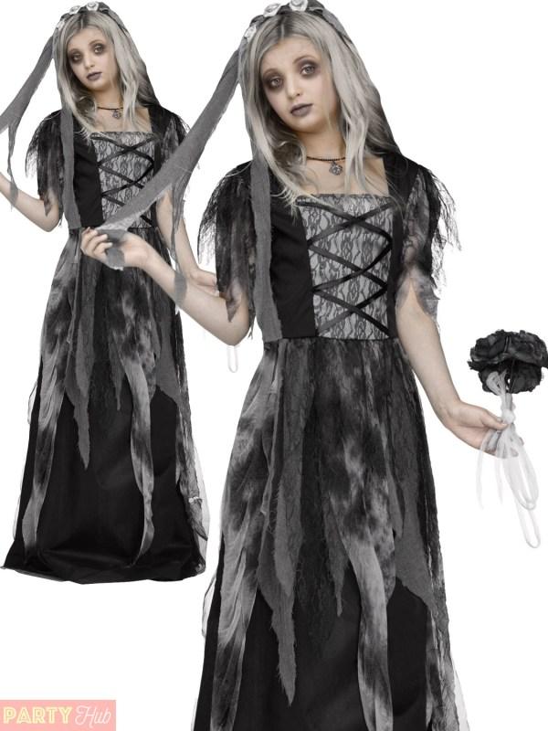 Girls Ghost Bride Halloween Costume