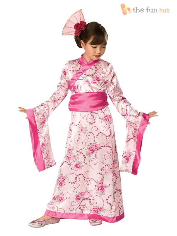 Girls Asian Geisha Princess Fancy Dress Chinese Year