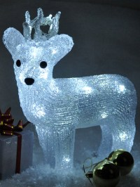 Light Up Reindeer Acrylic Crystal Effect Christmas ...