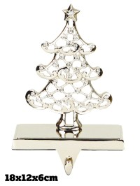 Silver Stocking Holder Christmas Decoration Fireplace ...
