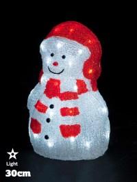 LED Acrylic Figures Christmas Decorations Light Up Santa ...