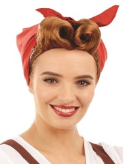 ladies land girl wig adults 1940s