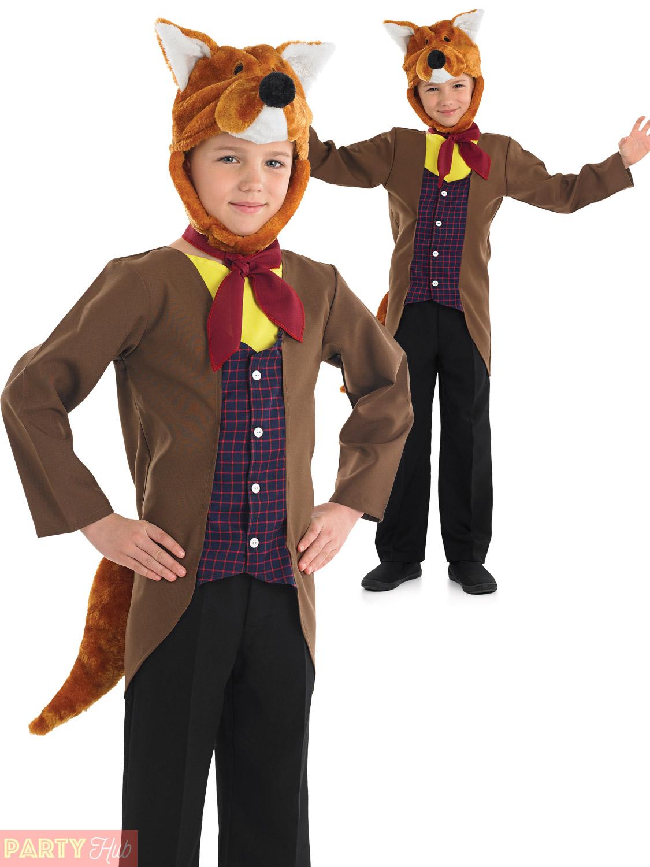 Boys Fantastic Mr Fox Costume Child Book Week Day Animal