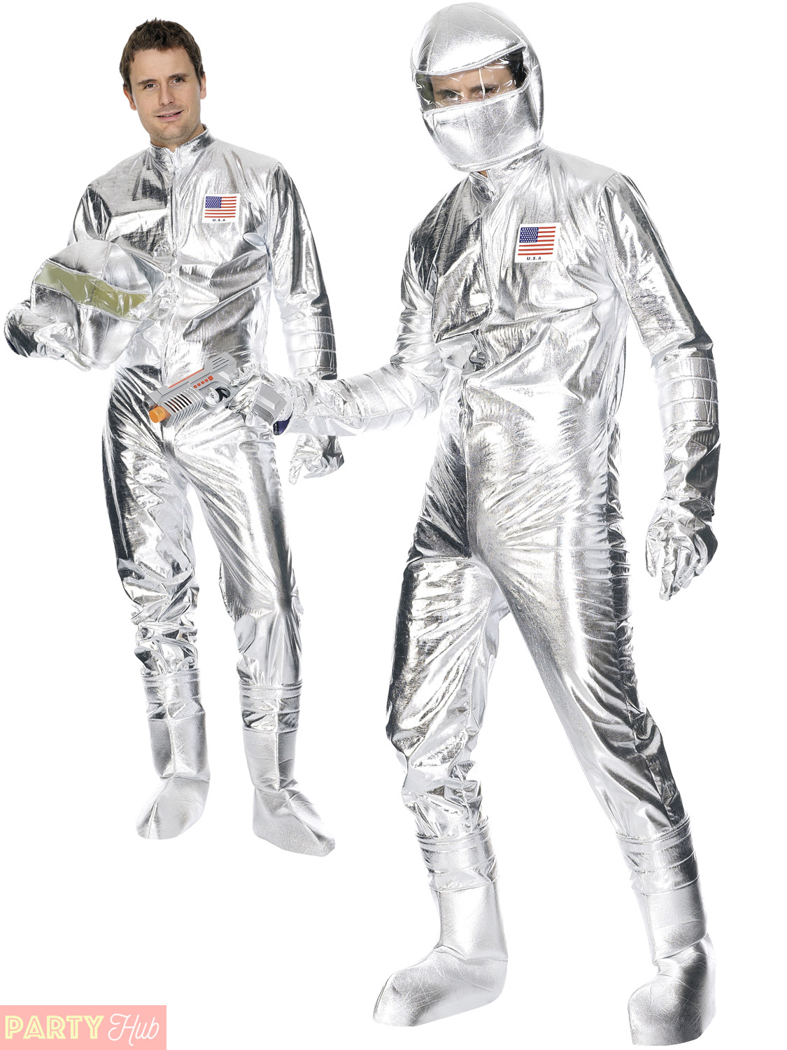 Mens Spaceman Costume Adult Astronaut Fancy Dress Space