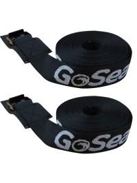 GoSea 3m x 2.5cm Heavy Duty Roof Rack Tie Down Straps ...