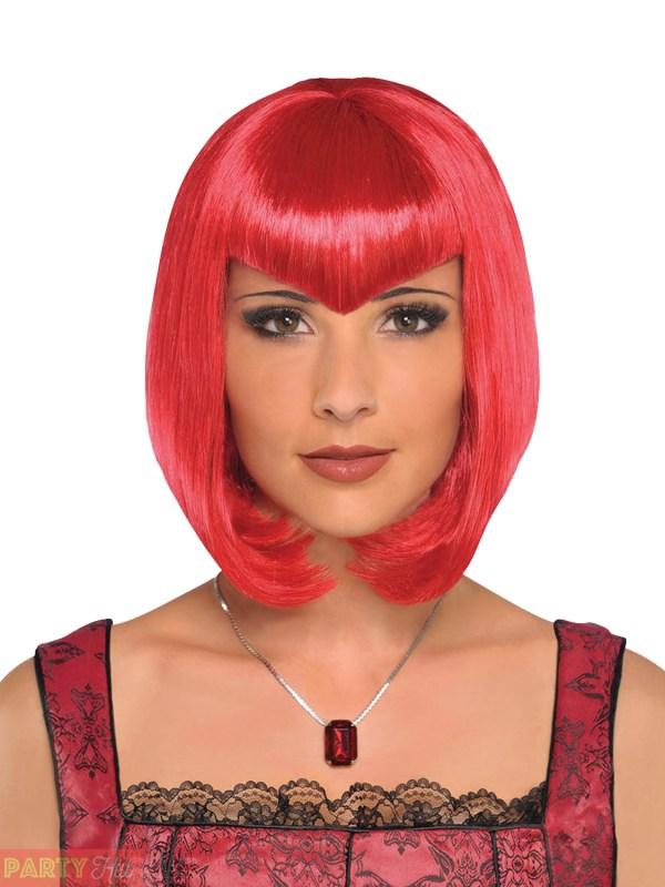 Ladies Bob Wig Womens Halloween Witch Cleopatra Fancy Dress Costume Accessory