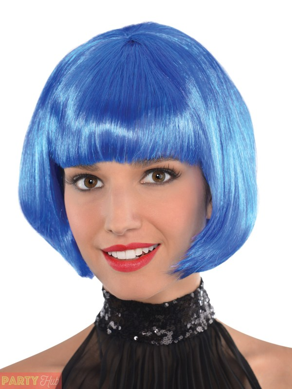 Ladies Bob Wig Womens Halloween Witch Cleopatra Fancy Dress Costume Accessory