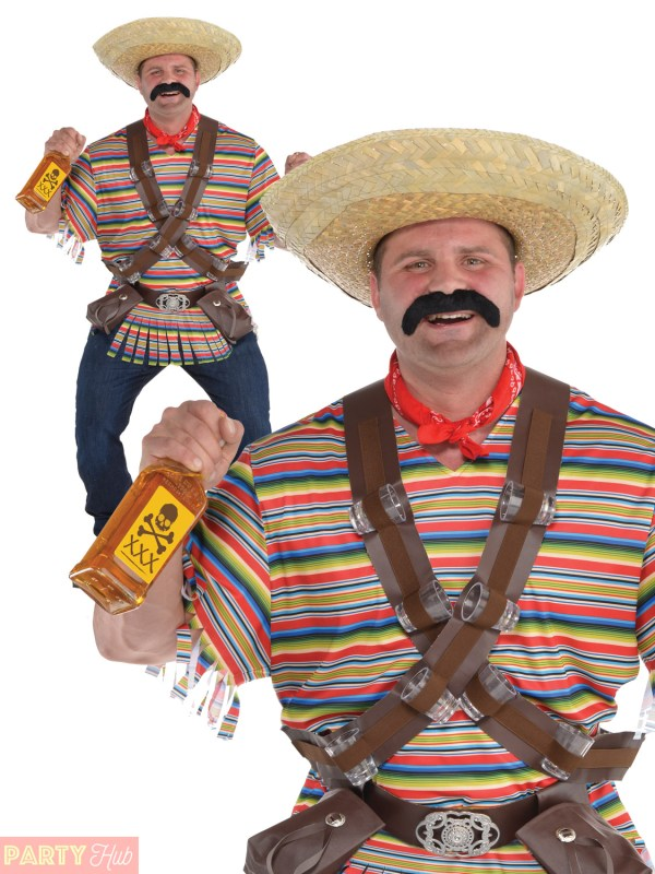 Mens Tequila Bandito Costume Adult Mexican Bandit Western