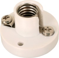 MES E10 FITTING BAKELITE BASE LIGHT BULB HOLDER WHITE