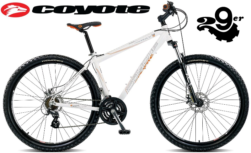 COYOTE FREEWAY 29er MENS DUAL DISC SHIMANO HARDTAIL WHITE