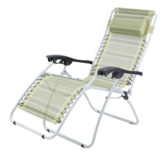 Reclining Deck Chair Asda Wheelchair Guy Gelert Mapleton Deluxe Sun Lounger Camping