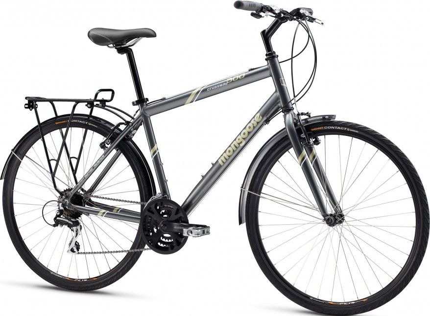 MENS MONGOOSE CROSSWAY 300 HYBRID BIKE CITY COMMUTER BIKE