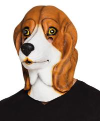 Dog Latex Mask Adult Fancy Dress Halloween Canine Hound ...