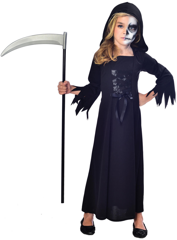 Grim Reaper Face Paint Halloween Costume
