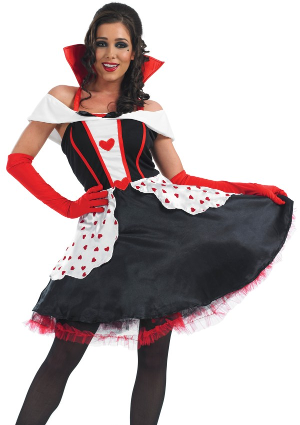 Queen Of Hearts Knee Length Dress Costume Valentines Day
