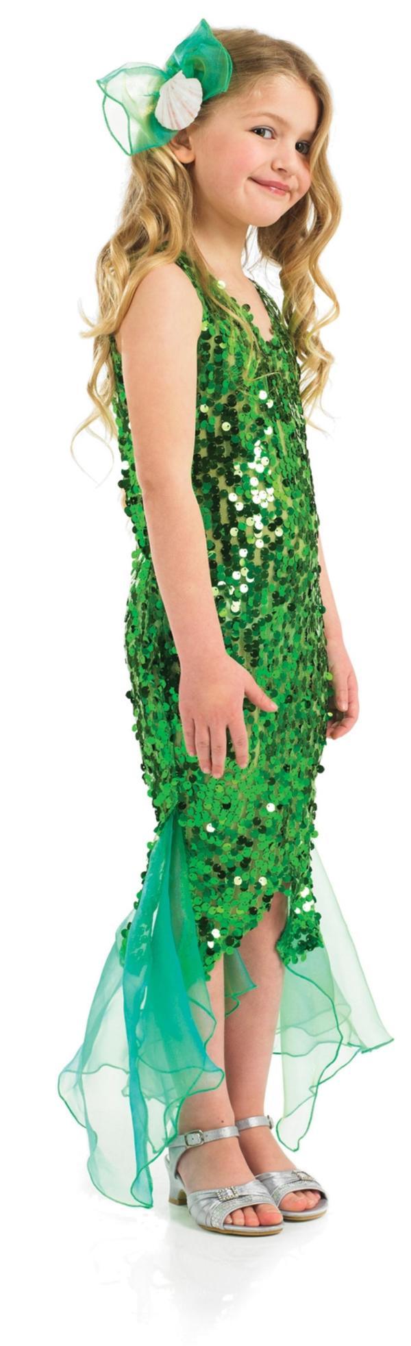 Girls Glitter Mermaid Costume Girl' World Book Day