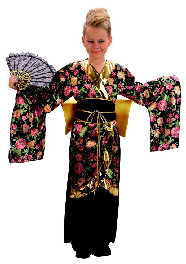 Geisha Kimono Girls Fancy Dress Japanese National