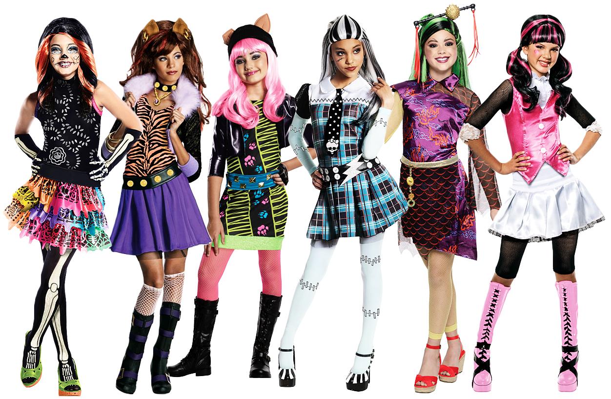 Monster High Girls Fancy Dress Halloween School Kids