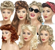 1940s pin wigs ladies fancy