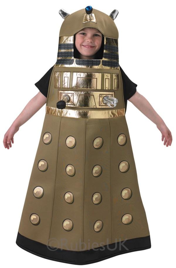 Dalek Suit Kids Doctor Fancy Dress Childrens Sci Fi