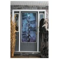 Scary Zombie Door Poster Halloween Fancy Dress Party ...