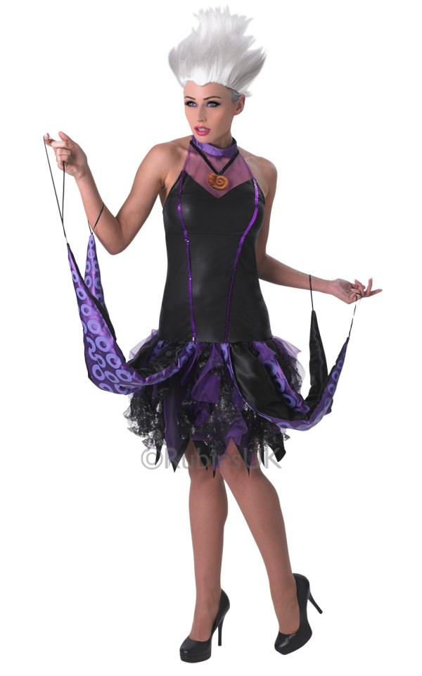 Ursula Ladies Fancy Dress Disney Little Mermaid Womens