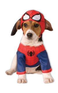 Spiderman Dog Fancy Dress Super Hero Pet Animal Halloween ...