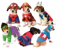 Superhero Dog Fancy Dress Super Heroes Avengers Marvel ...