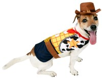 Woody Dog Fancy Dress Disney Toy Story Cowboy Pet Puppy