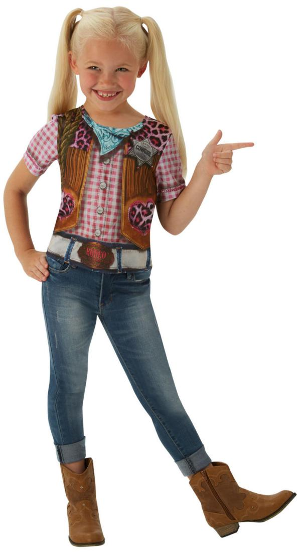 Cowgirl Girl T-shirt Kids Costume Girls Fancy Dress