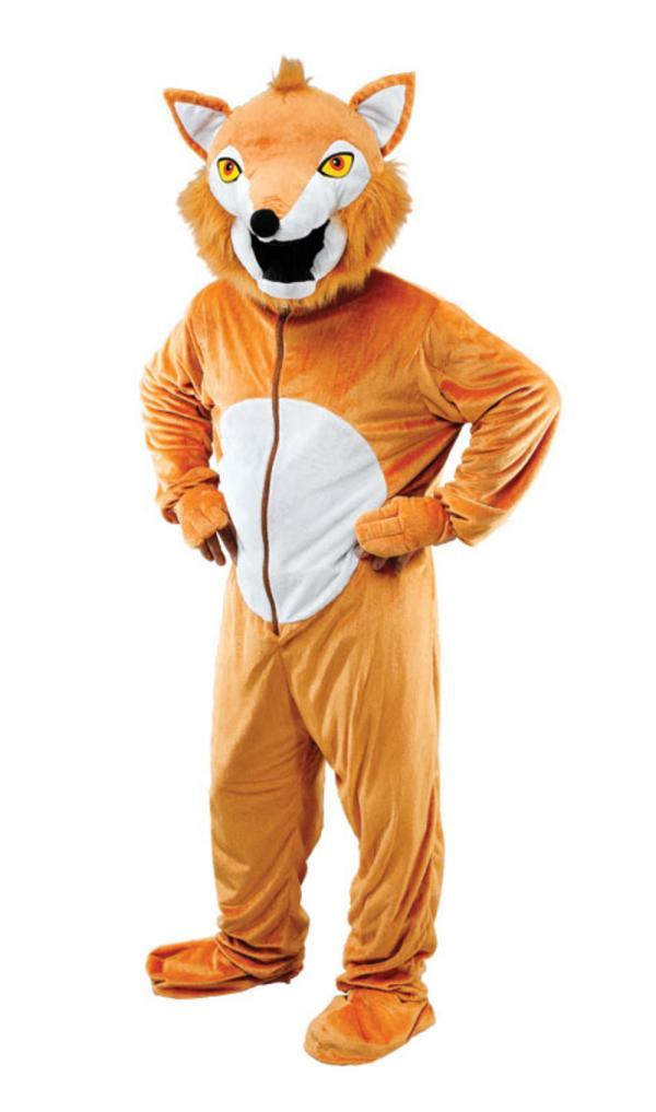 Fox Costume Adult Book Day Fancy Dress Mega