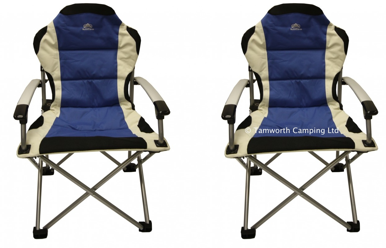 Camper Chairs Sunncamp Deluxe Super Folding Heavy Duty Camping Chair Max