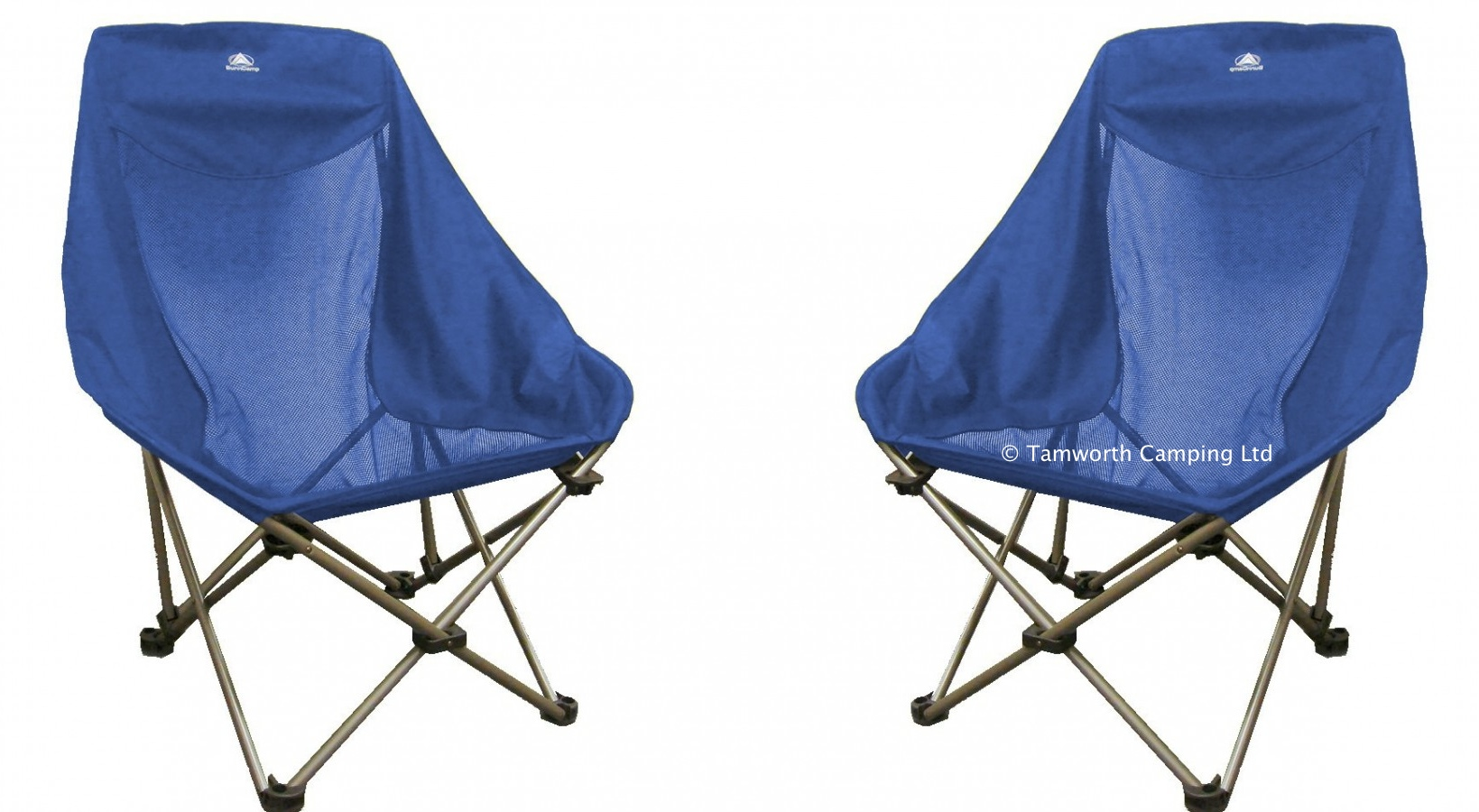 metal bucket chairs double papasan chair frame only sunncamp deluxe steel heavy duty folding camping