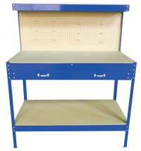 New Blue Steel Tools Box Workbench Garage Workshop Table ...