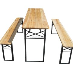 Pub Table With Chairs And Bench Disability Electric Westwood Outdoor Wooden Folding Beer Set Trestle Garden Steel Leg 5055418311243 | Ebay