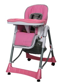 Foldable Pink Baby High Chair Recline Highchair Height ...