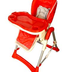 Baby Height Chair Bedroom With Ottoman Foldable Red High Recline Highchair